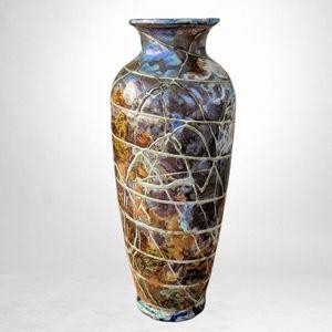 Antique Bohemian Knizek 'Pandora' art glass vase